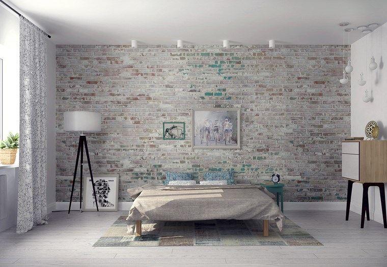 decoracion dormitorios moderno ladrillo colores originales ideas