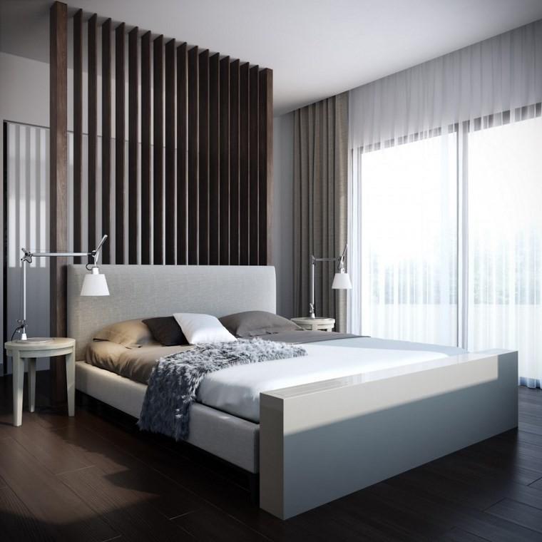 decoracion dormitorios moderno laminas madera decorando pared ideas