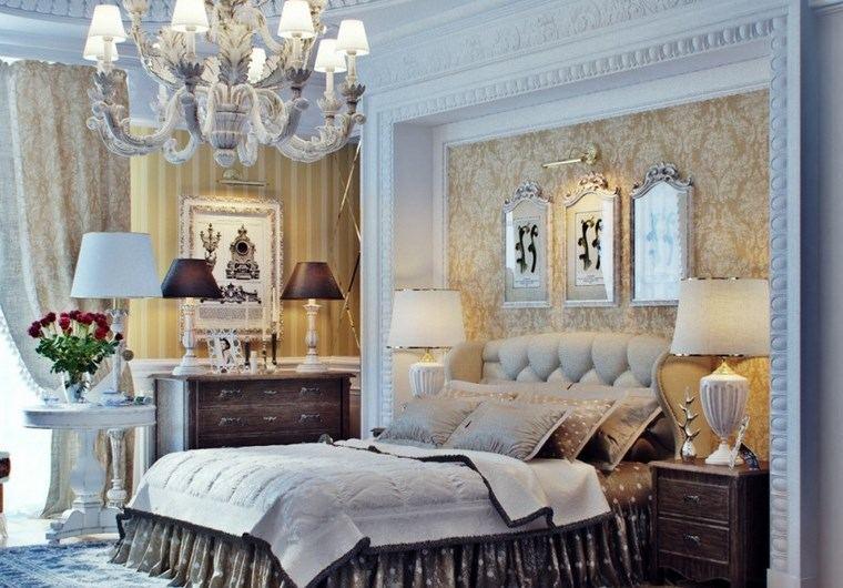 decoracion dormitorios moderno mesita blanca ideas