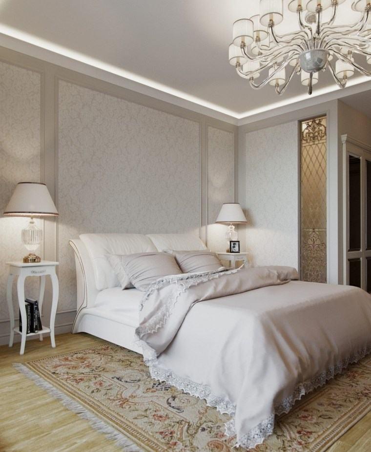decoracion dormitorios moderno mesitas noche blancas ideas