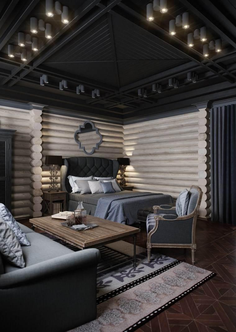 decoracion dormitorio moderno muebles grices ideas