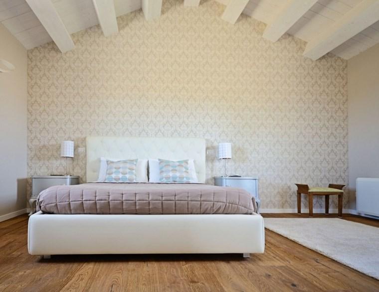 decoracion dormitorio moderno papel estampa ideas