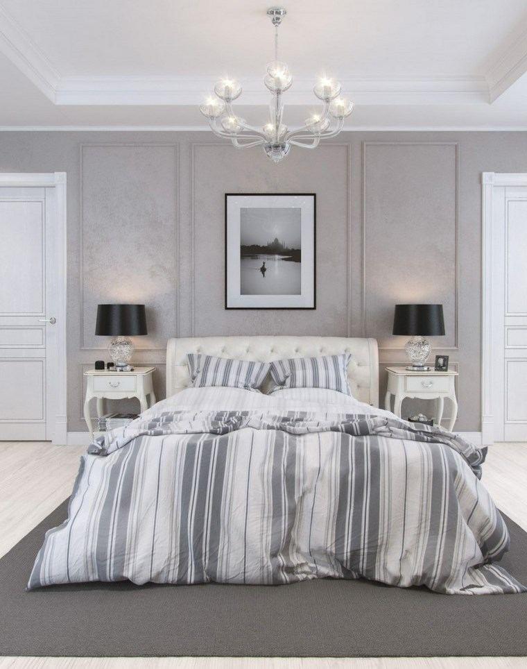 decoracion dormitorio moderno paredes alfombra gris ideas
