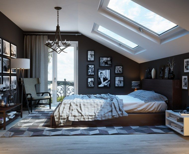 decoracion dormitorio moderno paredes oscuras fotos ideas