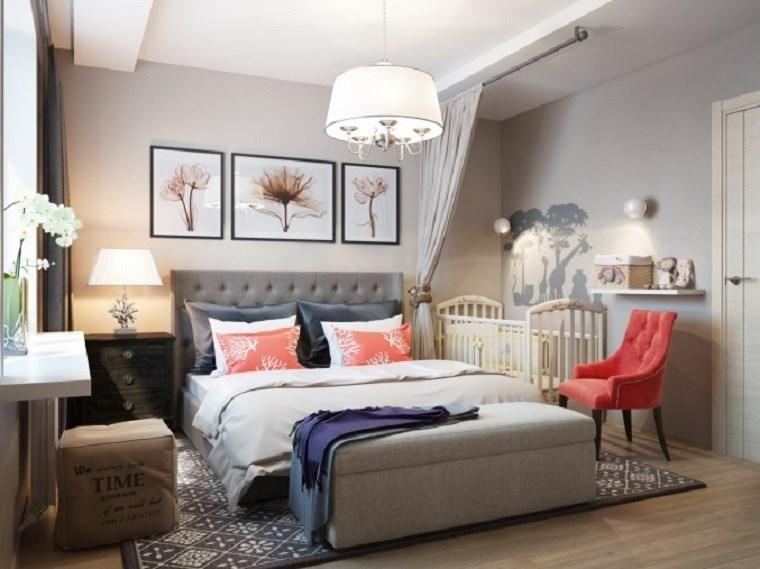 decoracion dormitorio moderno silla colorida ideas