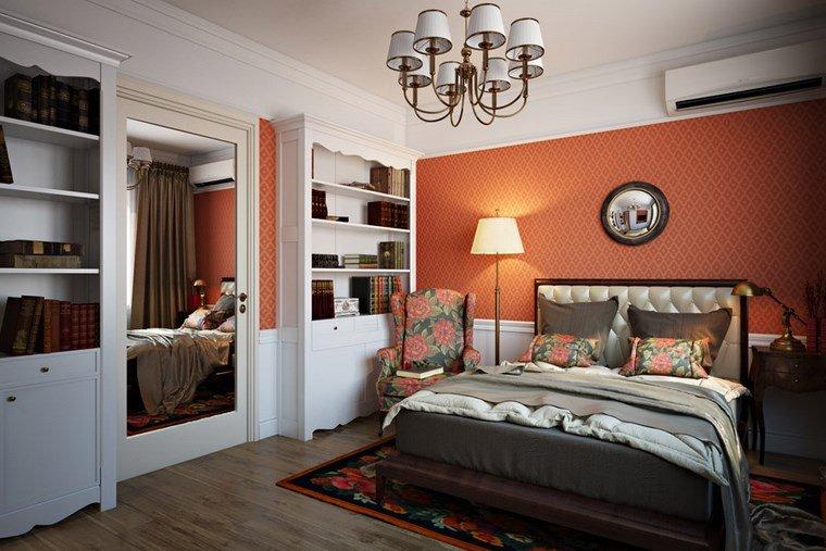 decoracion dormitorios moderno pared roja ideas