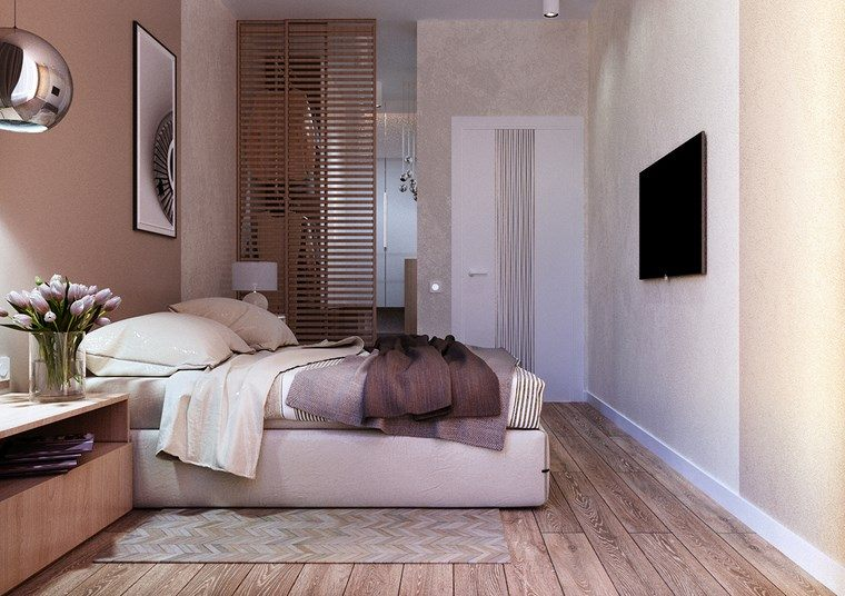 decoracion dormitorio moderno suelo madera ideas