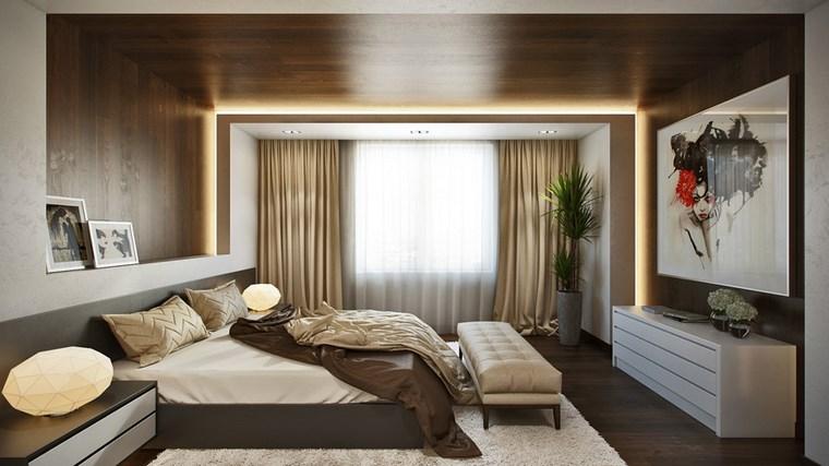 decoracion dormitorio modernos armario blanco cuadro ideas
