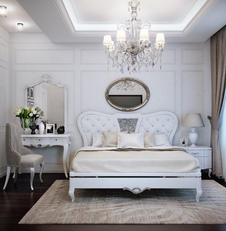 decoracion dormitorio modernos cama clasica blanca ideas