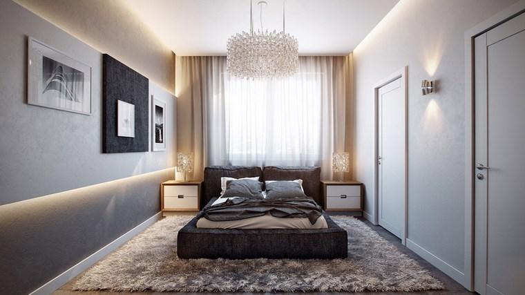 decoracion dormitorio modernos cama gris comoda ideas