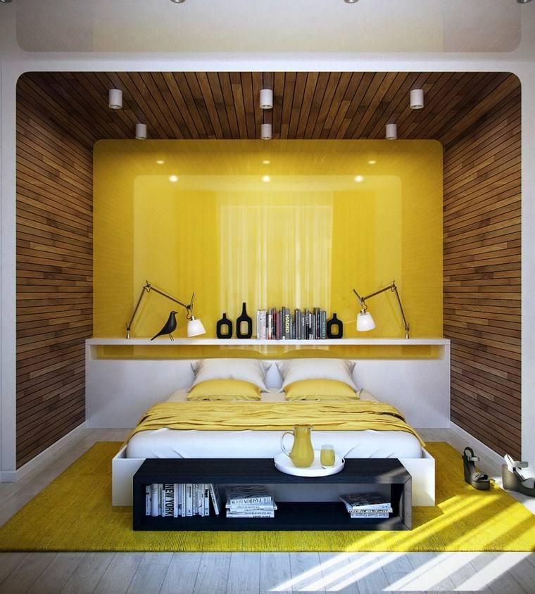 decoracion dormitorio modernos color amarillo vibrante ideas