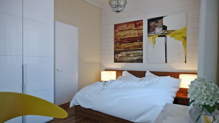 decoracion dormitorio modernos cuadros pared ideas