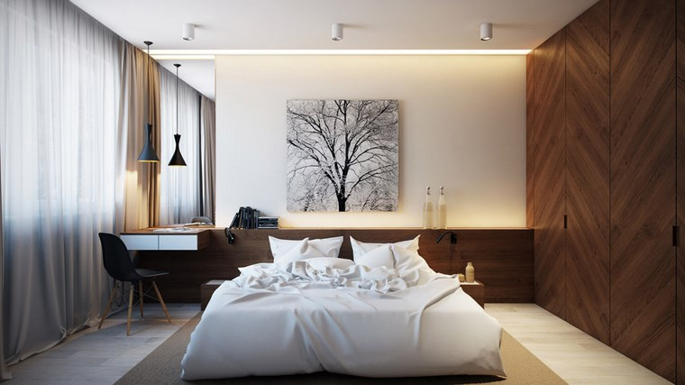 decoracion dormitorio modernos escritorio pequeno ideas