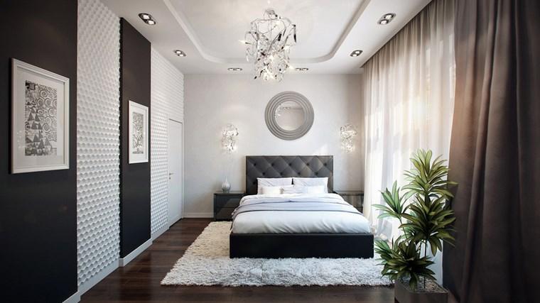 decoracion dormitorio modernos espejo redondo pared ideas
