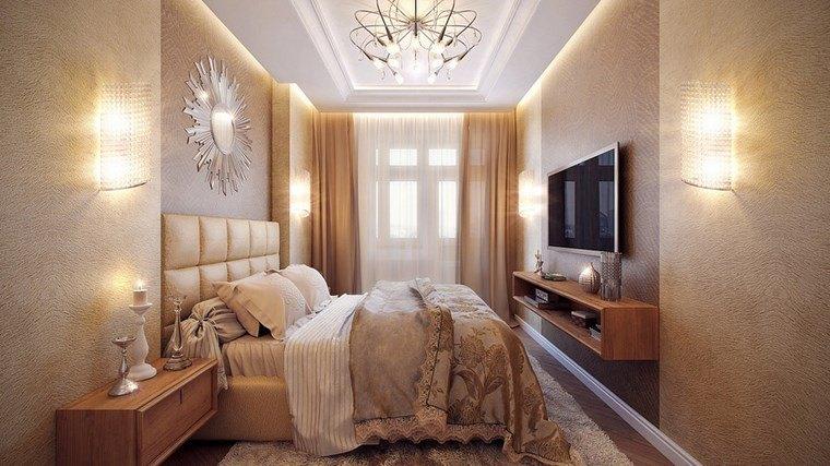 decoracion dormitorio modernos largos estrechos ideas