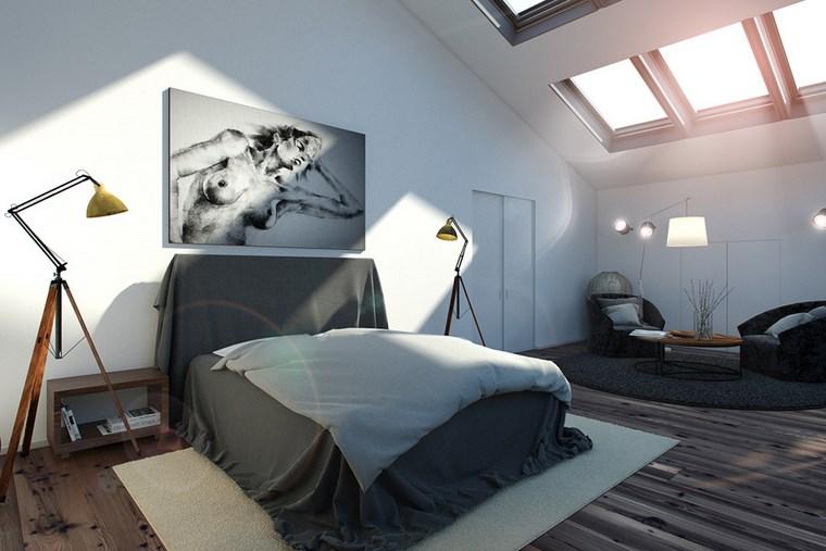 decoracion dormitorio modernos mesa sollones ideas