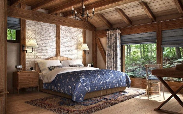 Decoracion dormitorios 100 dise o apasionantes - Dormitorio rustico moderno ...
