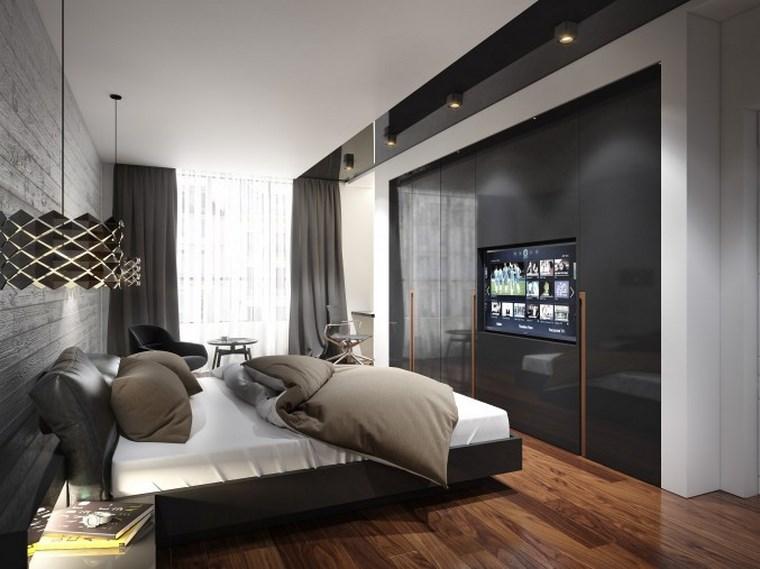 decoracion dormitorio modernos negro elegante ideas