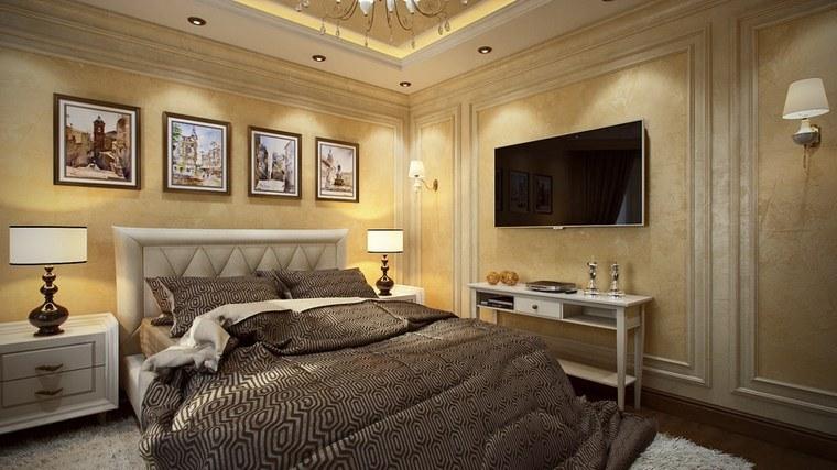 decoracion dormitorio modernos pared color amarillo ideas