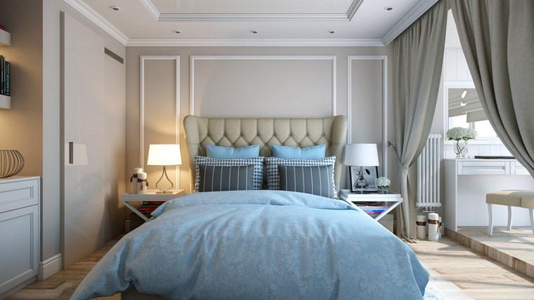 decoracion dormitorio modernos pared color gris claro ideas