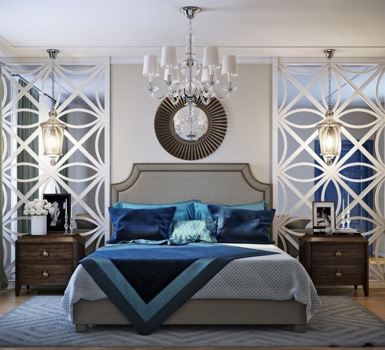 decoracion dormitorio modernos pared espejo ideas
