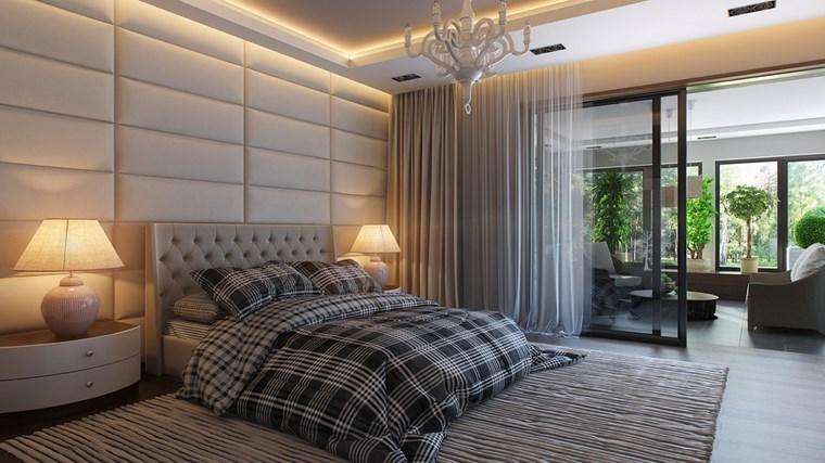 decoracion dormitorio modernos ropa cama gris ideas