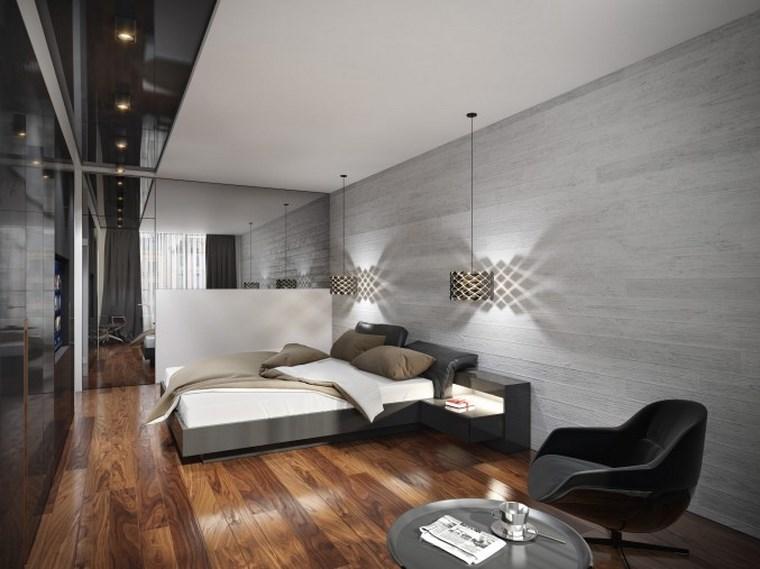 decoracion dormitorio modernos suelo madera ideas