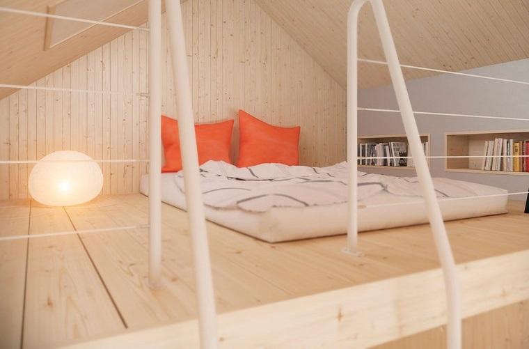 decoracion dormitorio modernos suelo techo madera ntural ideas