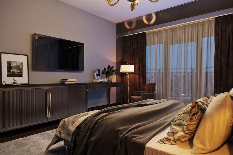 decoracion dormitorio modernos televisor ultima generacion ideas