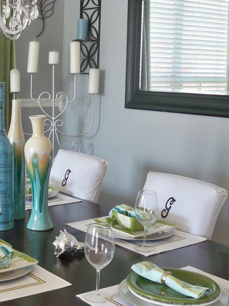 decoracion mesas de comedor copas ventanas