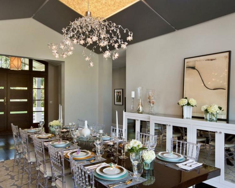 Decoracion mesas de comedor para espacios elegantes for Comedores elegantes