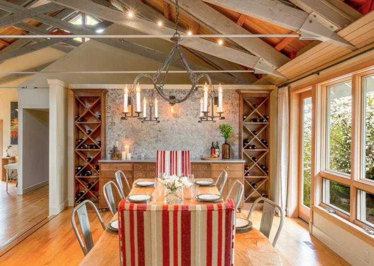 decoracion mesas de comedor platos lineas campo