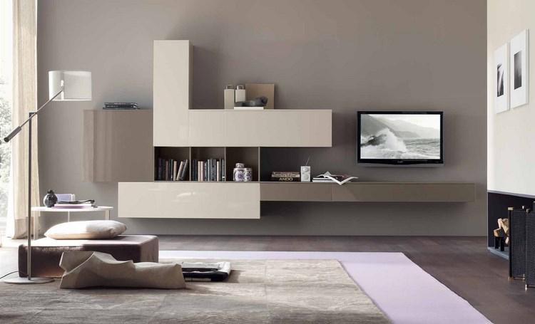decoracion paredes muebles color beige