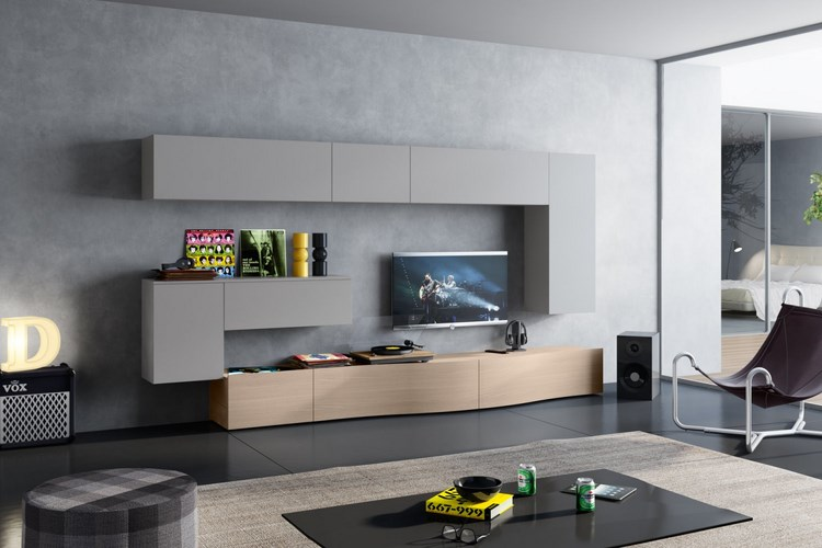 decoracion paredes muebles grices hormigón ideas