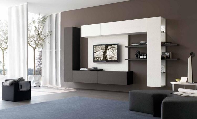 decoracion paredes muebles negro blanco modernos ideas