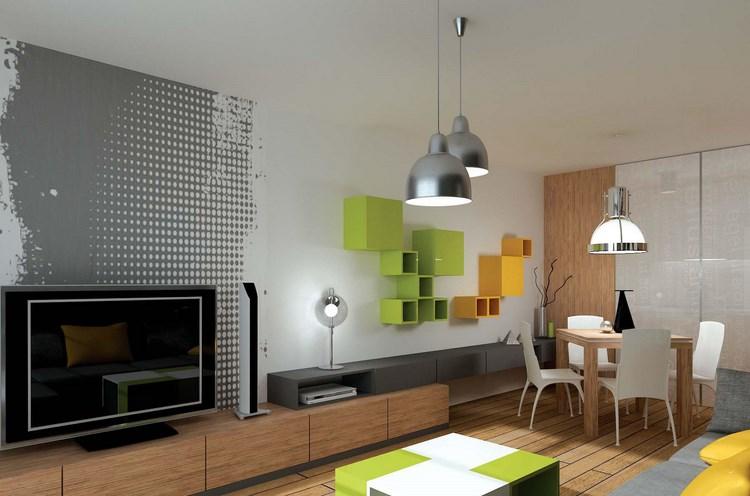 decoracion paredes muebles proyecto interior colorido ideas