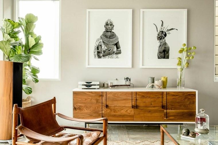 Decoracion salon moderno 50 dise os en blanco y madera for Decoracion cortinas salon moderno