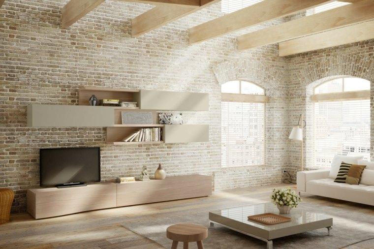 Decoracion salon moderno 50 dise os en blanco y madera for Decoracion para pared de salon