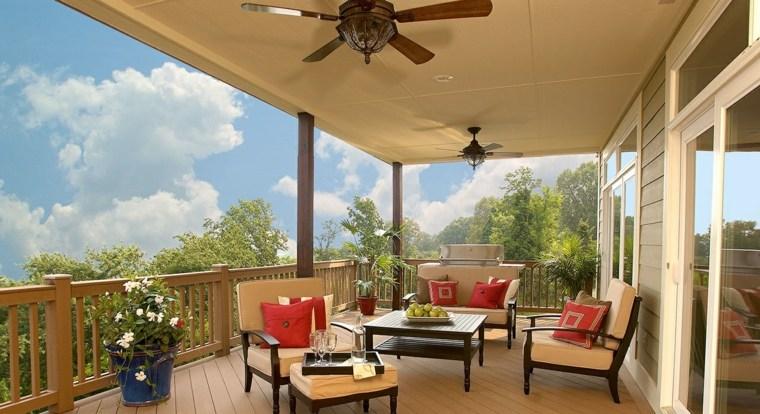 decoracion terrazas macetas muebles madera ideas