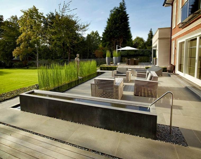 decoracion terrazas muebles diseno agua ideas