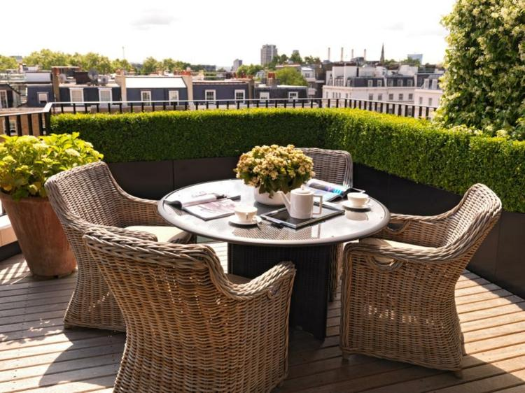 Decoracion terrazas peque as y medianas muy funcionales - Muebles para terraza pequena ...