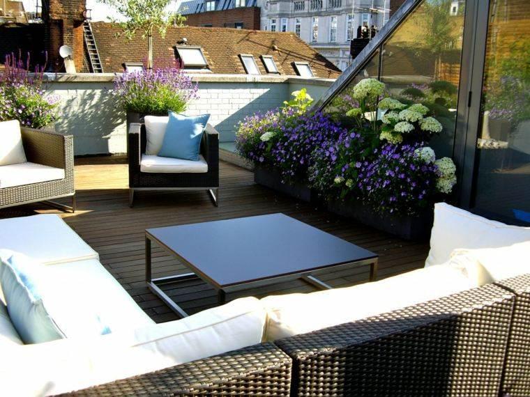 decoracion terrazas plantas muebles rattan ideas