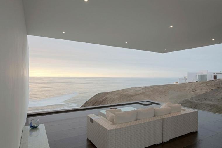 decoracion terrazas vista maravillosa muebles blancos ideas