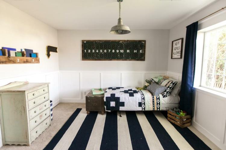 decoracion vintage de interiores lineas blancas negras