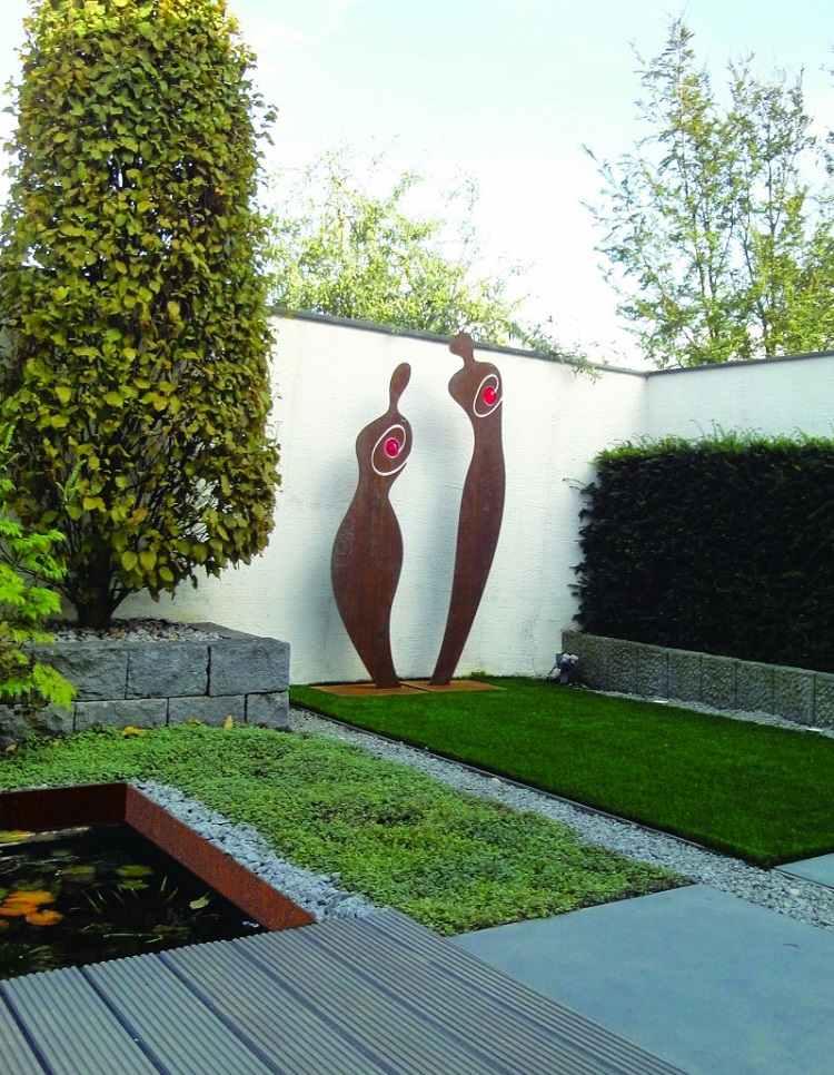 decoraciones figuras preciosas acero jardin amplio ideas