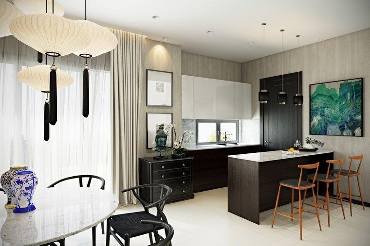 Decoracion cocinas peque as con estilo y modernidad for Barras para cocinas pequenas modernas