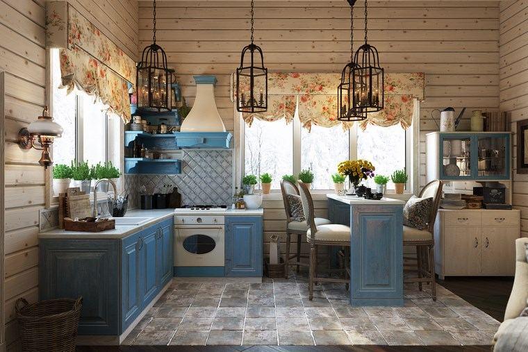 Decoracion cocinas peque as con estilo y modernidad - Muebles de cocina estilo retro ...