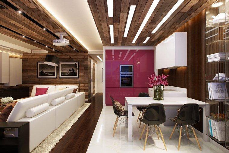 decoracion cocinas pequeñas diseno apartamento moderno ideas