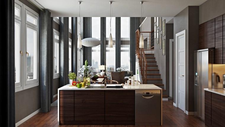 Decoracion cocinas peque as con estilo y modernidad - Isla cocina pequena ...