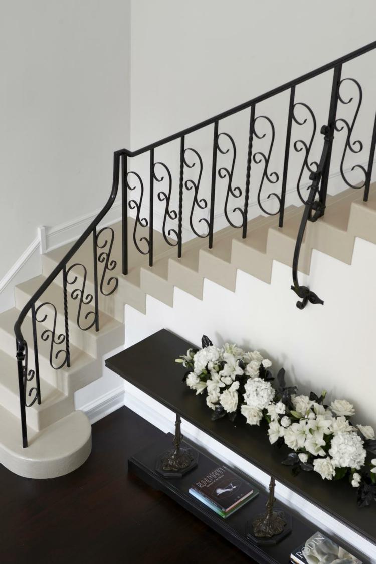 decorar con arte flores diseños escaleras